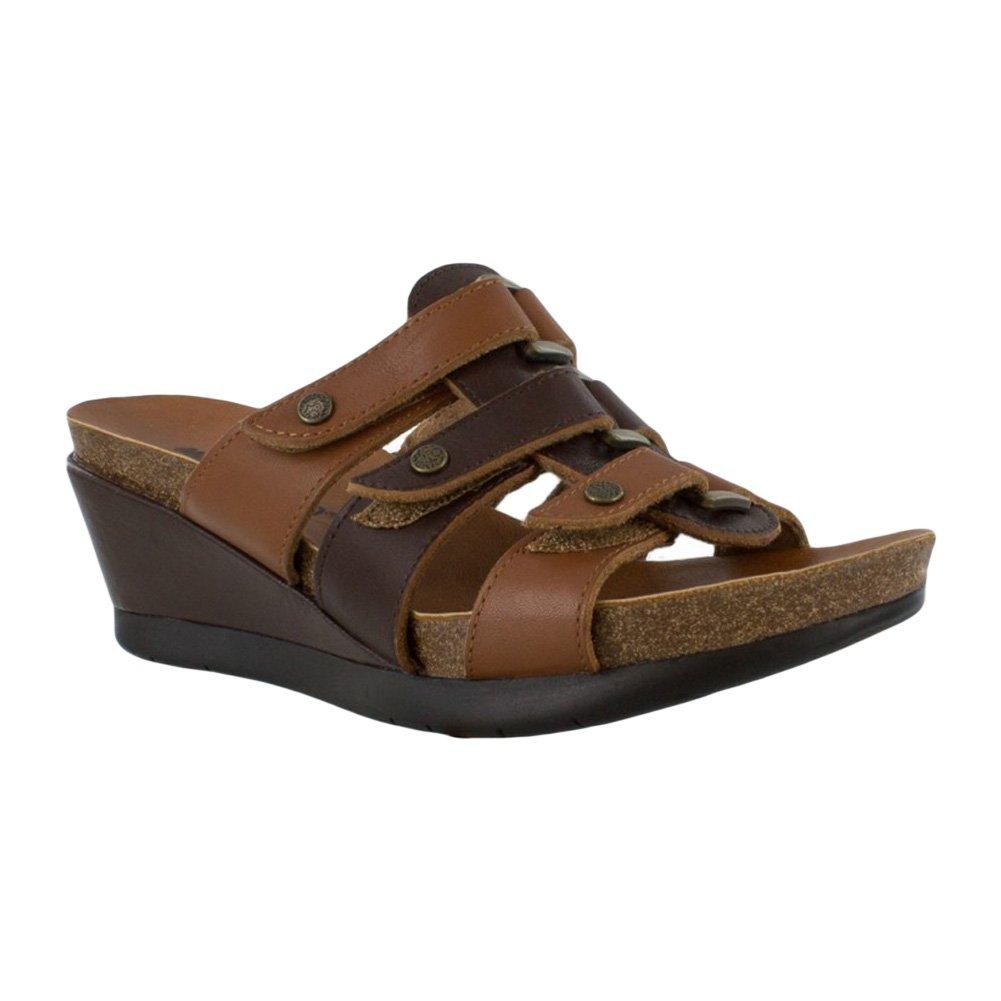 0cd988aee76d0 Minnetonka Women's, Tia Mid Heel Slide Sandals