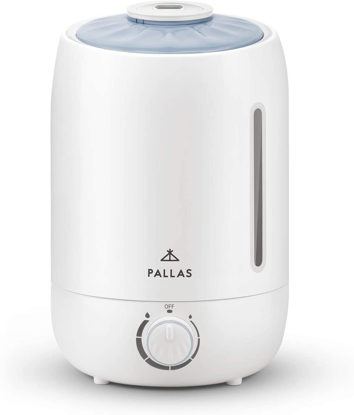 Pallas 2019 Humidifier – 5L Cool Mist Ultrasonic Humidifier for Bedroom, Baby, Home, Vaporizer for Large Room with Adjustable Mist Knob 360 Rotatable Mist Outlet