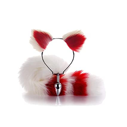 ieyol Fox Cat Furry cosplay traje oreja diadema cola ...