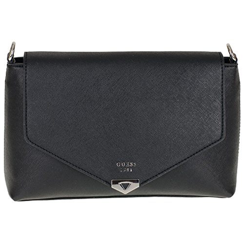 Lottie 5 31x18x8 black cm Damen Bag BK679220 Guess Shoulder Schultertasche axY0q1adw