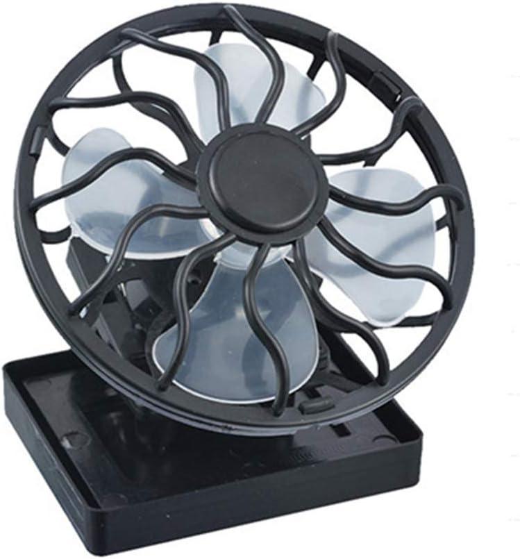Ventilateur de Refroidissement Solaire FairytaleMM avec Pince Mini Ventilateurs /à Angle r/églable pour la Maison et Le Bureau Durable Refroidisseur de sourdine Durable Durable-Black
