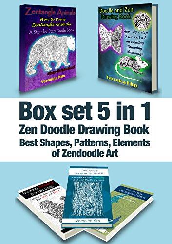 Box Set 5 in 1: Zen Doodle Drawing Book: Best Shapes, Patterns, Elements of Zendoodle ()