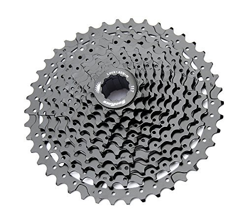 Sunrace 10-speed cassette CSMS3 wide ratio MTB (ED Black, 11-42T) by SunRace