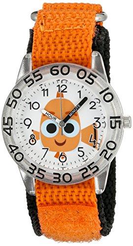Disney Girl's 'Finding Dory' Quartz Plastic and Nylon Watch, Color:Orange (Model: W003018)