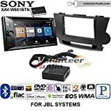 Volunteer Audio Sony XAV-W651BTN Double Din Radio Stereo Install Kit with Bluetooth, Pandora, iPhone Control, USB, AUX, Navigation Fits 2008-2013 Toyota Highlander with Amplified System (Black)