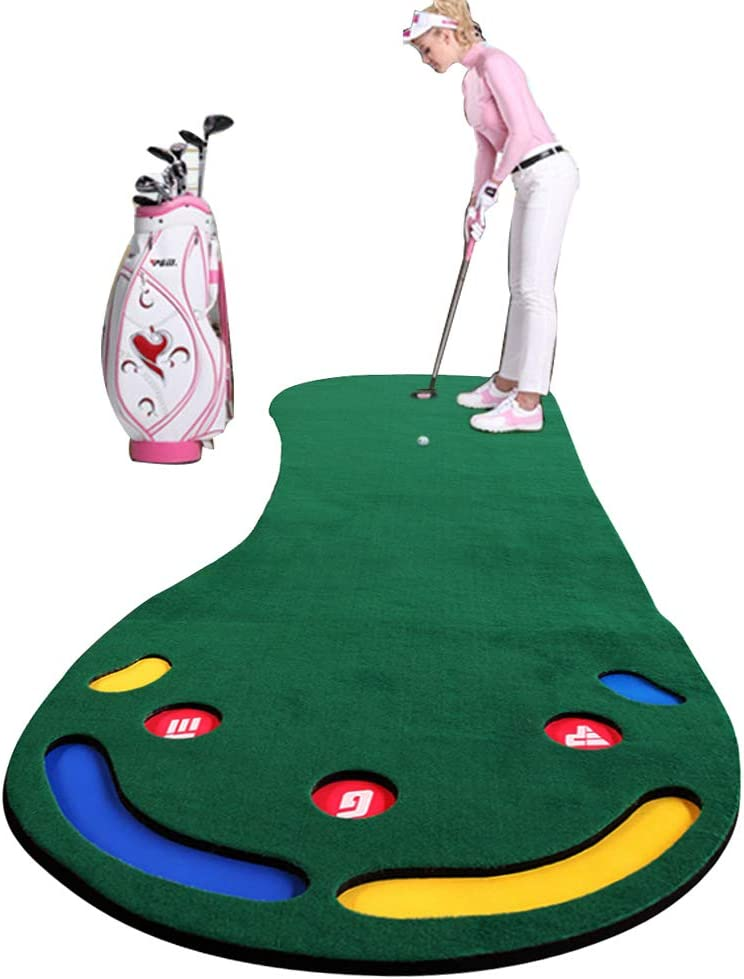 Dilraba パターマット ゴルフ パター 練習 マット屋内 屋外 静音 300×100cm パッティングマット 距離感練習 パット練習マット 毛布版