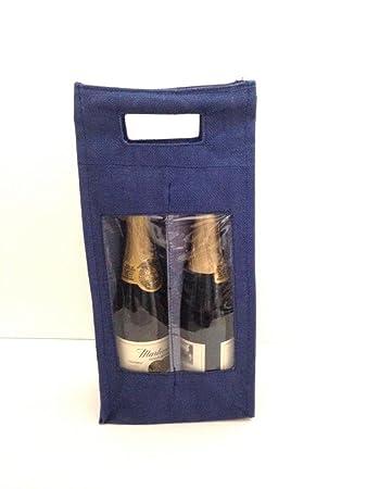 Amazon.com: Yute bolsas de regalo de vino (Single/Doble) con ...