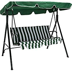 New Green Outdoor 3 Seats Patio Canopy Swing Glider Hammock Backyard Porch Furniture great addition to your backyard