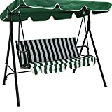 Cheap New Green Outdoor 3 Seats Patio Canopy Swing Glider Hammock Backyard Porch Furniture great addition to your backyard