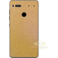 SopiGuard Essential Phone PH1 Carbon Fiber Rear Panel Precision Edge-to-Edge Coverage Easy-to-Apply Vinyl Skins (Glitter Gold)