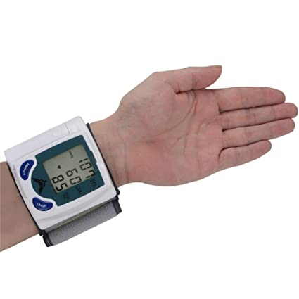 Inteligente hogar aparatos electrónicos de tensiómetro muñeca presión arterial esfigmomanómetro, english (for export)
