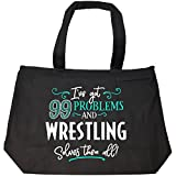 99 Problems Wrestling Solves Them All Gift - Tote Bag With Zip