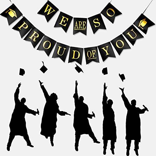 - We are So Proud of You Banner Graduation Party Banner Proud of You Sign Banner for 2019 Graduation Parties Grad Party Decoration (Set 1)