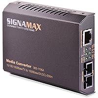 Signamax 10/100/1000BaseT/TX to 1000BaseLX Media Converter, SC/SM, 10 km Span UPC CODE 763474169528