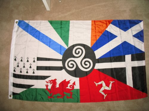 European Garden (3x5 European Celtic Nations Flag 3 by 5 Foot Ireland Scotland Wales Brittany)