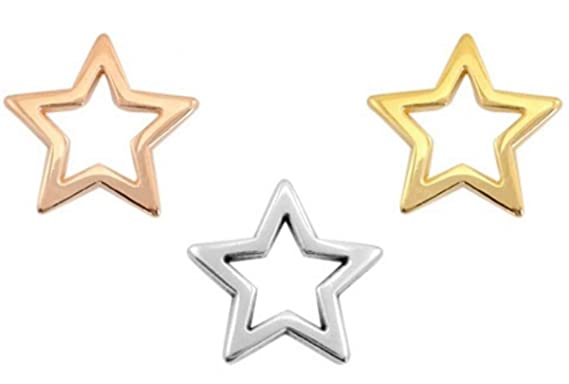 Gold vergoldet Charms Stern DIY Schmuck 50 Stück Sadingo Metallanhänger