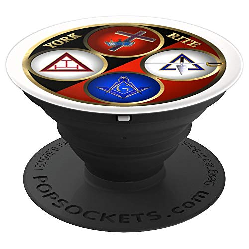 (York Rite Masonic Freemason Symbols - PopSockets Grip and Stand for Phones and Tablets)