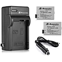 Powerextra 2 Pack Replacement Canon LP-E8 Battery With Charger for Canon Rebel T3i, T2i, T4i, T5i, EOS 600D, 550D, 650D, 700D, Kiss X5, X4, Kiss X6, LC-E8E