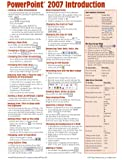 Microsoft PowerPoint 2007 Introduction Quick Reference Guide (Cheat Sheet of Instructions, Tips & Shortcuts - Laminated Card)