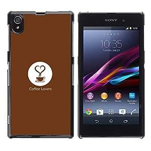 Be Good Phone Accessory // Dura Cáscara cubierta Protectora Caso Carcasa Funda de Protección para Sony Xperia Z1 L39 C6902 C6903 C6906 C6916 C6943 // Coffee Love Quote Art Slogan Qu
