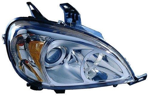 Go-Parts ª OE Replacement for 2003-2005 Mercedes-Benz ML350 Front Headlight Headlamp Assembly Front Housing/Lens/Cover - Right (Passenger) Side 163 820 50 61 MB2503114 for Mercedes-Benz ()