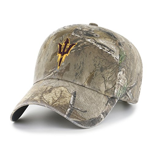 NCAA Arizona State Sun Devils Realtree OTS Challenger Adjustable Hat, Realtree Camo, One Size ()