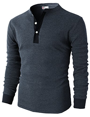 H2H Casual Henley Sleeve Shirts