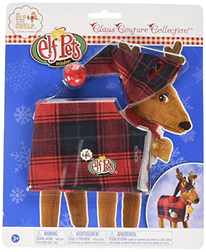 Elf Outfits For Dogs (Elf on The Shelf Claus Couture FA-La-La Reindeer)