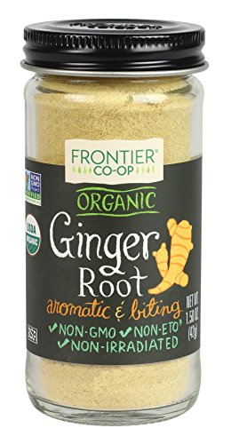 Frontier Natural Products Ginger Root, Og, Ground, 1.50-Ounce