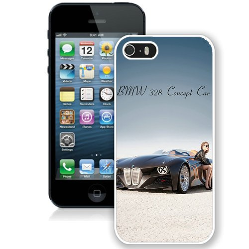 Coque,Fashion Coque iphone 5S Bmw 328 Concept Car blanc Screen Cover Case Cover Fashion and Hot Sale Design