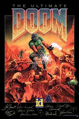 (CGC Huge Poster - Doom Original Art Super Nintendo SNES - OTH186 (24