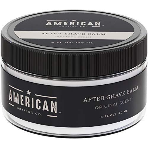 American Shaving After Shave Balm For Men (4oz) - Original Masculine Scent - 100% Natural Moisturizing Aftershave Lotion - Best Aftershave For Men to Soothe Dry Sensitive Skin Post Shave (Harrys Mens Post Shave Balm 3-4 Oz)
