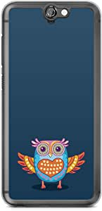 HTC One A9 Transparent Edge Phone Case Owl Phone Case Colorful A9 Cover with Transparent Frame