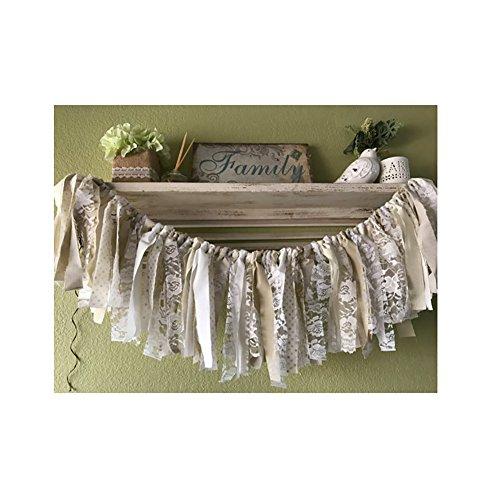 "Lothver 78"" White Garland Banner Wedding Parties Decorations"