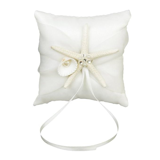 LEORX Almohada anillo Almohada de novia playa de anillo de ...
