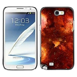 Planetar® ( Burning Fiery Skies ) SAMSUNG Galaxy Note 2 II / N7100 Fundas Cover Cubre Hard Case Cover