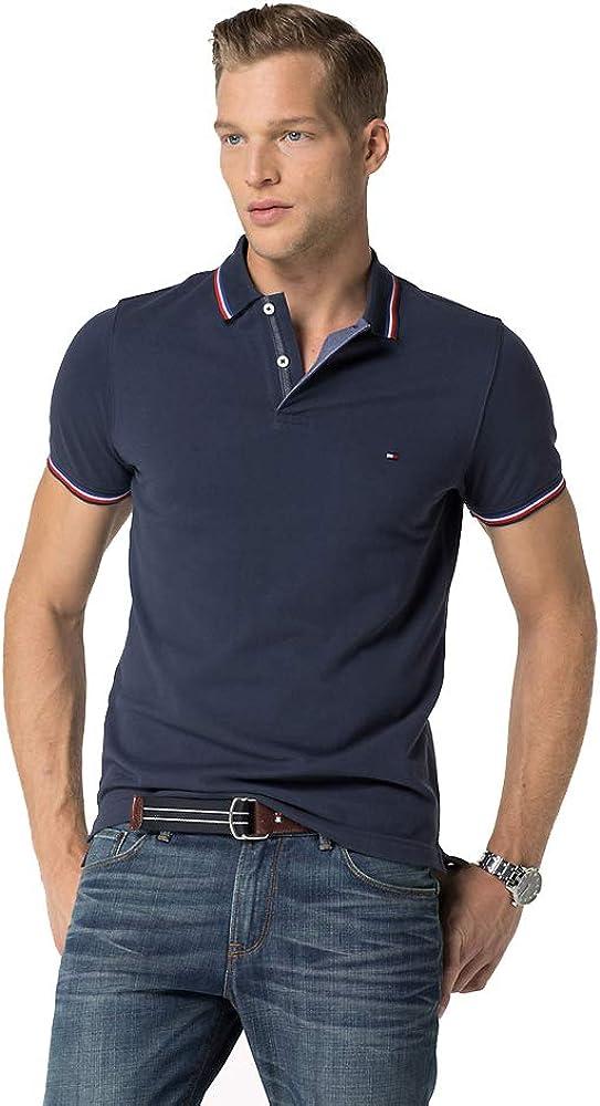 Tommy Hilfiger Polo para Hombre Slim Fit (XXXL, Azul Marino ...