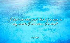 Amazoncom Lily Allen Famous Quotes Laminated Poster Print 17x11