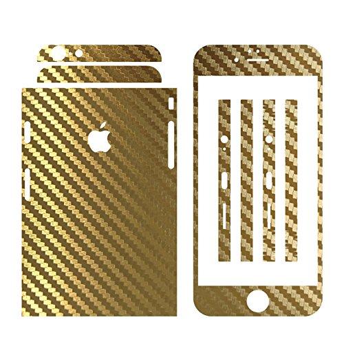 IPHONE 6 / 6S GOLD CARBON FOLIE SKIN ZUM AUFKLEBEN bumper case cover schutzhülle i phone