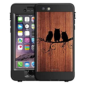 Skin Decal for LifeProof nuud Apple iPhone 6 Plus Case - Tree Owls on a Branch Ink