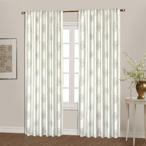 United Curtain Starburst Window Curtain Panel, 54 by 84-Inch, Natural (Starburst Window)