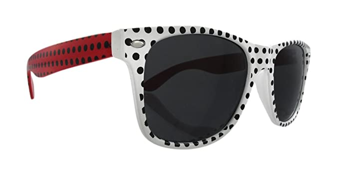 Amazon.com: Retro de lunares, estilo de 80 gafas de sol ...