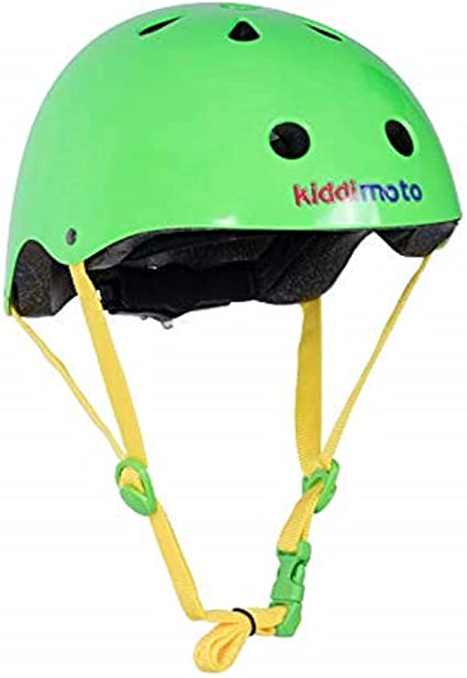 Kiddimoto Neon Green Kids Bicycle Helmet Ages 2-5 years and 5+