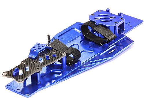 (Integy RC Model Hop-ups T8655BLUE Performance Conversion Chassis Kit for 1/10 Traxxas Rustler & Bandit)