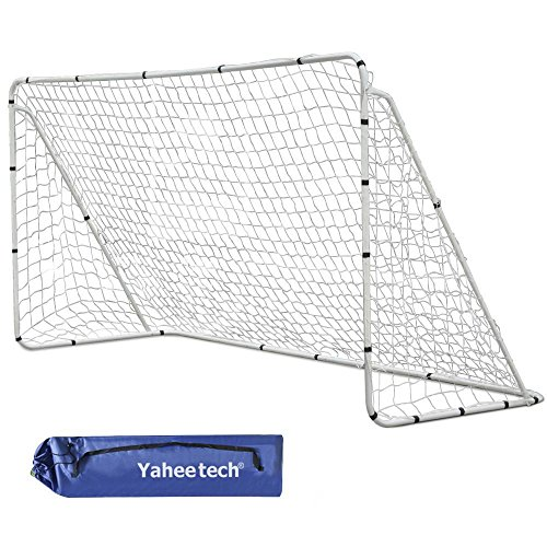Yaheetech 7' x 5' Professional Soccer Goal with Net and Carry Bag, Portable Practice Training Aid