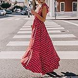 LISTHA Women Short Sleeve Long Maxi Dress V Neck