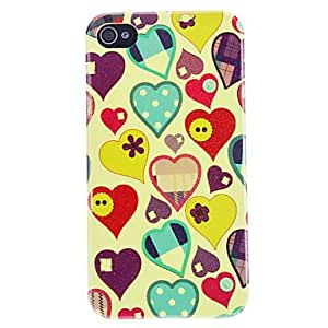 Exquisite Love Print Flash Powder Hard Case for iPhone 4/4S