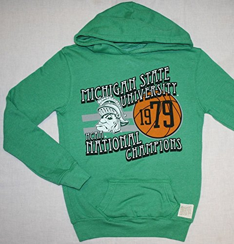 1979 Michigan State Spartans - Michigan State Spartans NCAA Women's Heather Green 1979 Basketball Champs Hoodie Sweatshirt-X-Large