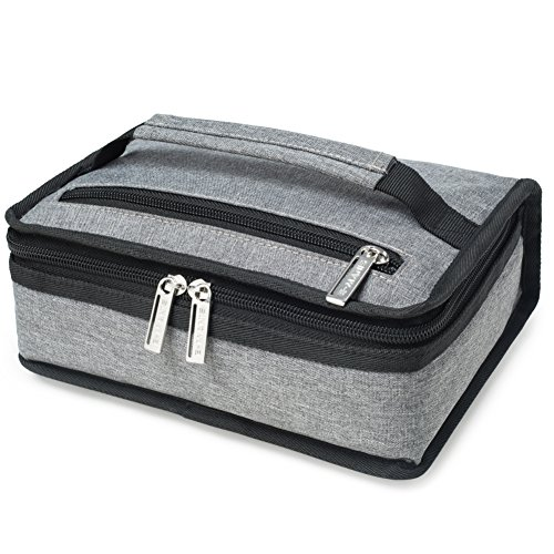 E-MANIS Insulated Lunch Bag Adult lunch box Collapsible Multi-Layers Thermal Insulated Oxford Lunch Tote cooler bag for men, women - Compact Medicine