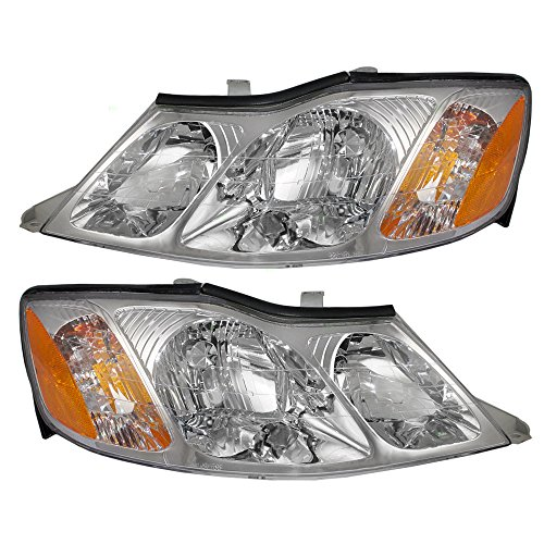 Driver and Passenger Headlights Headlamps Replacement for Toyota 81150-AC040 81110-AC040